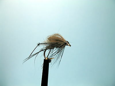 3 X CDC LOOPWING BLACK HOPPER DRY TROUT FLY Sizes10,12,14,16 Available  • 1.35£