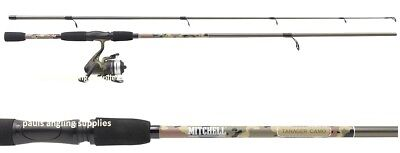 Mitchell Tanager Camo Pattern 8ft Spinning Fishing Rod  & Reel With Line 1446409 • 33.83£
