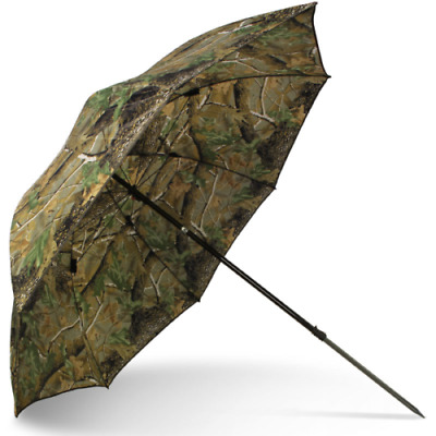 NGT Camo Fishing Brolly 45   Inch Tilt Action Coarse Carp Fishing Umbrella • 29.95£
