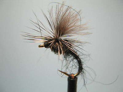3 X CDC BLACK MINI KLINKHAMMERS DRY TROUT FLIES Sizes10,12,14,16 Available  • 1.35£