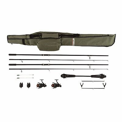 Mitchell Carp Fishing Kit Set Rods Reels Pod Alarms Rod Bag Complete Set Up  • 129.05£