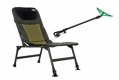 Fishing Chair Folding Lightweight Carp Chair  With Feeder Arm And Rest  • 55.85£