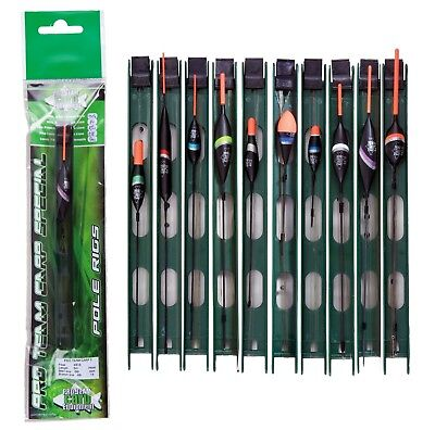 10 Pro Pole Float Fishing Rigs Good Selection Hi Vis Carp Line Mix 1.5 / 6lb • 14.65£