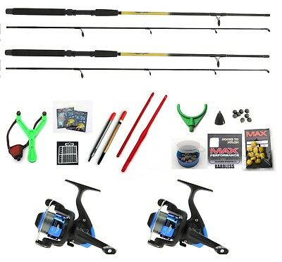 Fishing Kit , 2 X  Rods ,Reels Hooks Line Floats Catapult Etc 6 Ft Sportstar  • 38.15£