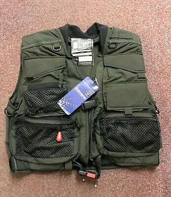 Crewsaver Teviot Automatic Inflation Fly Fishing Vest - NEW - Small • 44.95£