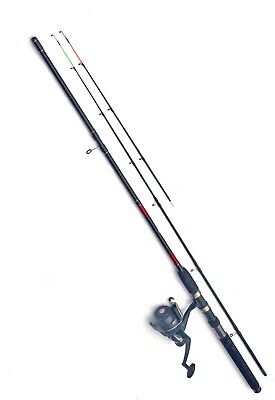 Shakespeare Beta  Multi Feeder Fishing Rod 2 Tip Red & Reel With Line 8ft • 29.70£