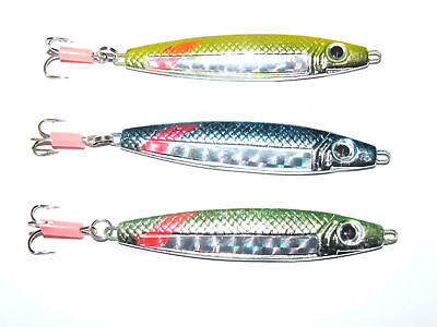 3 X FFT STINGER 40g Stavenger Lure Mackerel Bass Cod Pike Spinners Treble Hooks • 4.99£