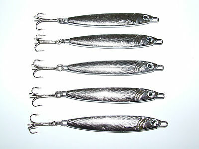 5 X FFT 20 30 40 60g Silver Stinger Spinner Lure Mackerel Bass Cod Mackerel  • 8.49£