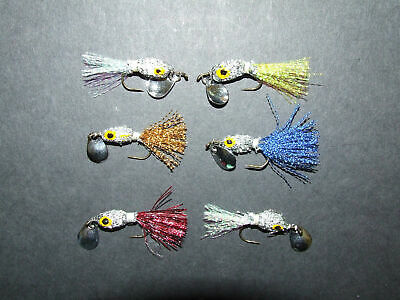 6 X Silver Bladed Minnow Fly Lures Sinking Trout Salmon Bass Pike Sea Fishing • 5.99£