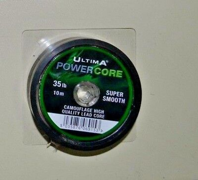 Ultima Powercore Camouflage High Quality Lead Core 35 Lb /10 M • 9.99£