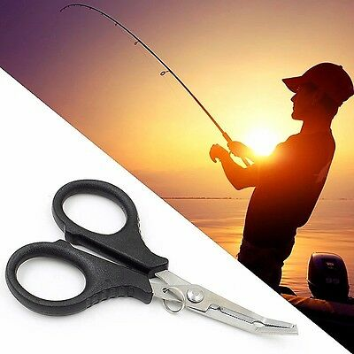 Multi Function Fishing Pliers Scissors Wire Line Cutter Remove Hook Tackle Tool • 3.95£