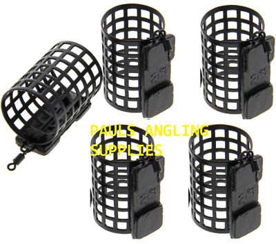 PACK OF 5 NGT Fishing Tackle Round Metal Cage Feeders 25g Swimfeeders / Bait • 7.49£