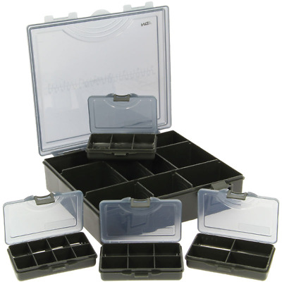 Tackle Box With 4 Bit Boxes Terminal Carp Coarse Tackle 4 +1 Black Ngt • 8.50£