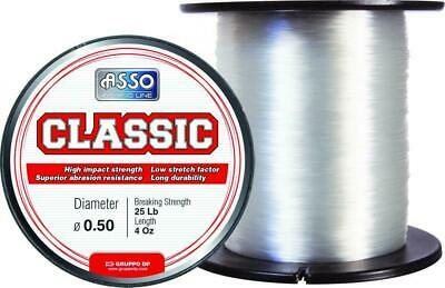 Asso Classic Mono Bulk 4oz Spool Line ALL SIZES 15 18 20 25 30 40 50 60 70lb • 7.49£