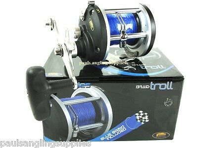 New   Lineaeffe Boat / Trolling  Multiplier Reel  Braid Fitted For Sea Fishing  • 43.89£