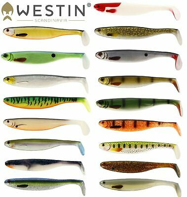 Westin Shadteez Slim 1-2pcs.  Slimteez,zander Pro,vmc,cast,fishing Tackle 7-27cm • 4.49£