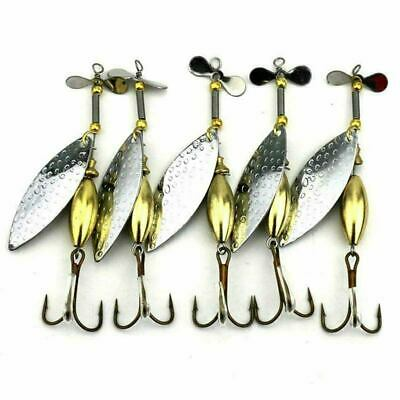 5 X FFT 15g SPINNER SPOON LURE SEA TROUT MACKEREL COD BASS LURE  FISHING MEPP • 6.99£