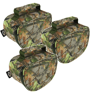 NGT Deluxe Camo Pattern Fishing Reel Cases Bag For Carp Reels Fishing Tackle • 14.53£