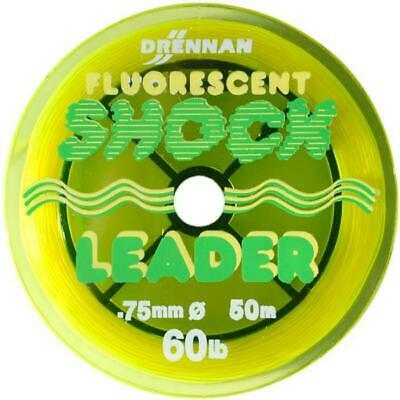 Drennan Fluorescent Shockleader 50lb Sea Fishing • 3.49£