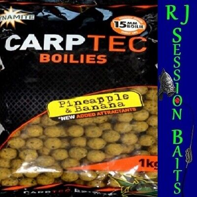 Dynamite Baits Pineapple & Banana Boilies 15mm Session Pack • 1.80£