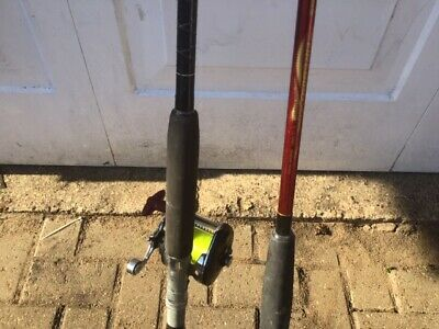 2 X Boat / Pier Rods With 1x Multiplier Reel • 25£