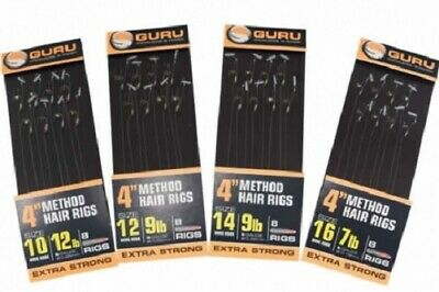 GURU READY TIED RIGS 4 INCH HOOKS TO NYLON - THE FULL RANGE- Match Fishing • 4.95£