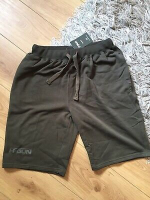 NASH Tackle Mens XXL Size Olive Green Soft Cotton Mix Carp Shorts With Logos New • 10.50£