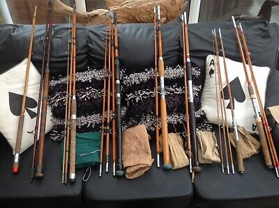 Collectors (7x Very Old Cane Fishing Rods) • 60£