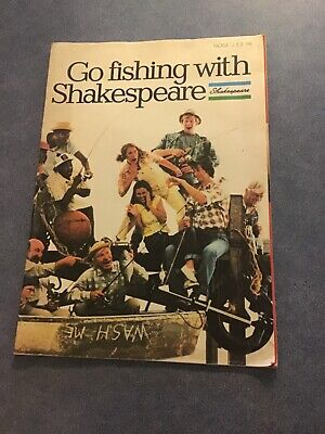 Retro Go Fishing With Shakespeare TRADE 1981 Tackle Guide Fishing Catalogue • 12.99£