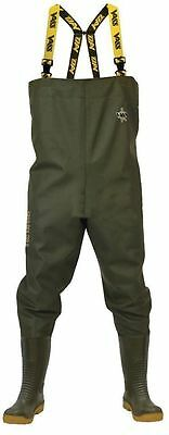 Vass 700E Nova PVC Heavy Duty Chest Waders  *Sizes 6-13*  Sea Carp Pike Fishing • 82.99£