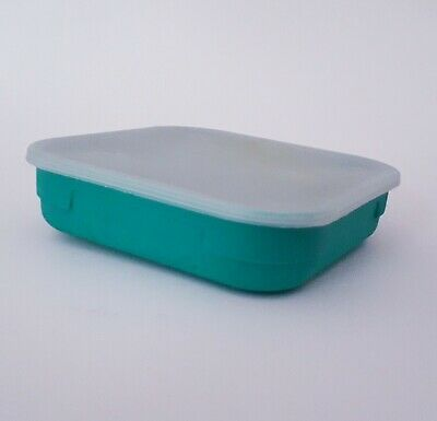 Fishing Bait Boxes - Square Slim Depth Aqua One (1.1) Pint Bait Box • 3.50£