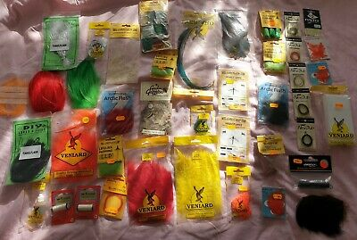 Job LOT 1 Of Fly Tying Materials All UNUSED AS PICTURES SHOW And A Few Fly Bits • 9.99£