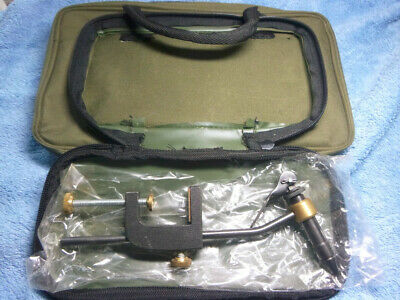 Travelling Fly Tying Case + Rotary Vice + Tools Etc • 15£