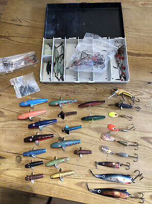 VINTAGE Fly Lures +ABU Svangsta Box Inc Toby Droppen Dibro Minnows BeadWires Etc • 32£
