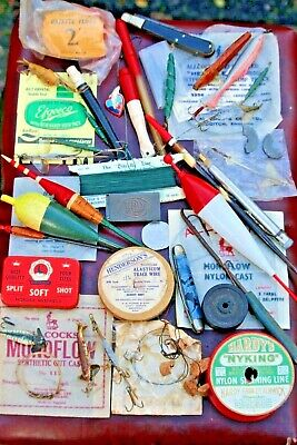 Job Lot Of Vintage Fishing Tackle ; Lures,floats, Traces,mounts Weights • 15£