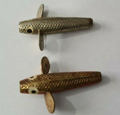 2 Vintage Hardy Brother Pennell Devons Scaled Lures Both 1 1/4  • 6.99£