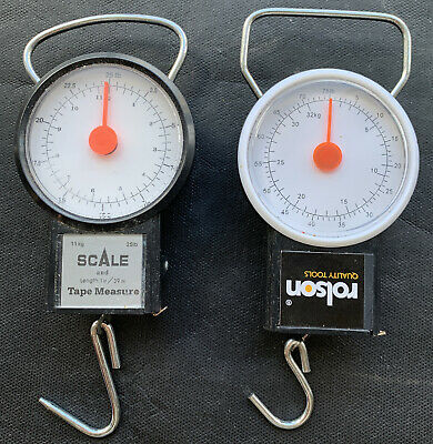 2 X Scales, 1 Roldon 75lb & 1 Other 25lb. Fishing/ Baggage Scales • 2.99£