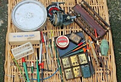Mixed Lot Of Vintage Coarse Fishing Tackle;Bait Box,Reel,Floats And Accessories  • 16.05£