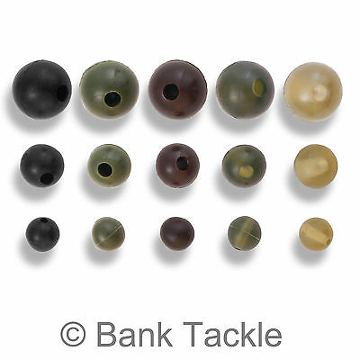 Rubber Shock Beads 4mm 6mm 8mm Rig Making Buffer Beads Carp Fishing Tackle (JC) • 5.99£