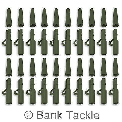 Lead Clips And Tail Rubbers Weedy Green 40 Piece Terminal Set Carp Fishing (JP1) • 3.69£