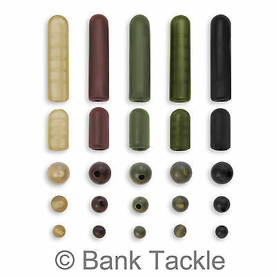 Buffer Beads Rubber Shock Rig Beads 4mm 6mm 8mm 12mm 25mm Carp Fishing Tackle • 2.59£