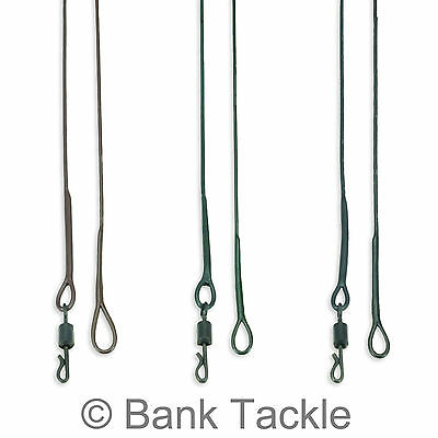 Lead Free Leaders 100cm Size 8 Quick Change Swivel Green Brown And Black (JZQ) • 4.99£