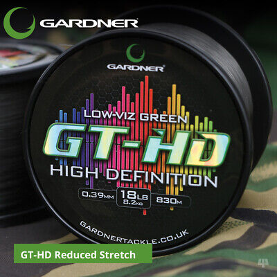 Gardner Tackle GT-HD Reduced Stretch - Carp Barbel Pike Bream Tench Fishing Line • 19.99£