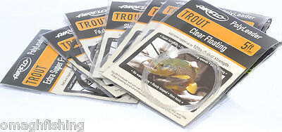 Airflo 5ft Trout PolyLeader*All Densities*Trout Fishing Leader Sink Tip Tapered • 4.95£