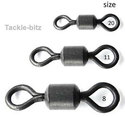 Swivels Carp Fishing Tackle Safety Lead Clip Size 8 Chod Size 11 Micro Size 20  • 2.79£