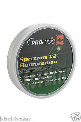 Pro Logic Spectrum V2 Fluorocarbon Fishing Line Hook Length Carp Barbel Coarse • 8.99£