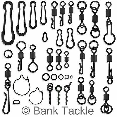 Carp Swivels Quick Change Hooklink Clips Links Rig Rings Bait Screws Tackle • 16.99£