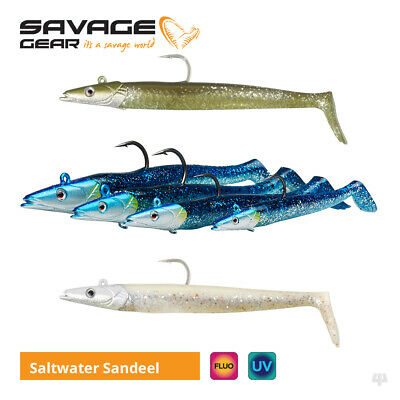 Savage Gear Saltwater Sandeel Lures - Bass Wrasse Cod Pollock Sea Fishing Tackle • 4.99£