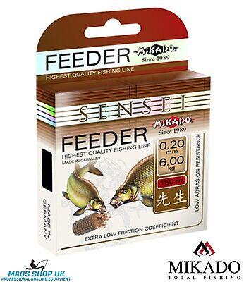 Fishing Line Mikado ''sensei Feeder'' 150 Meters, All Diameters, Carp, Bream • 6£