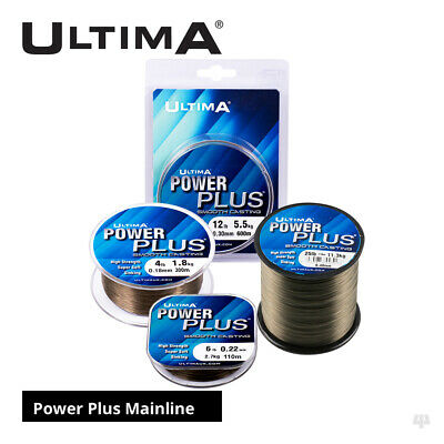 Ultima Power Plus Smooth Casting Mainline - Carp Roach Rudd Coarse Fishing Line • 14.50£